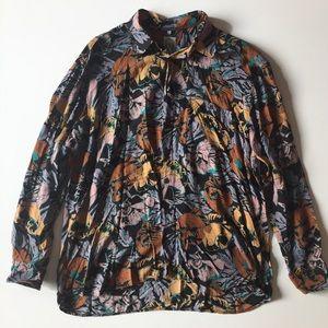 Vintage 90s Men's Floral Button Up Casual Shirt